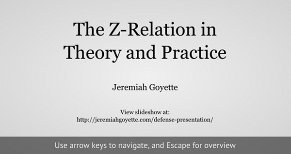 Doctoral dissertation defense presentation